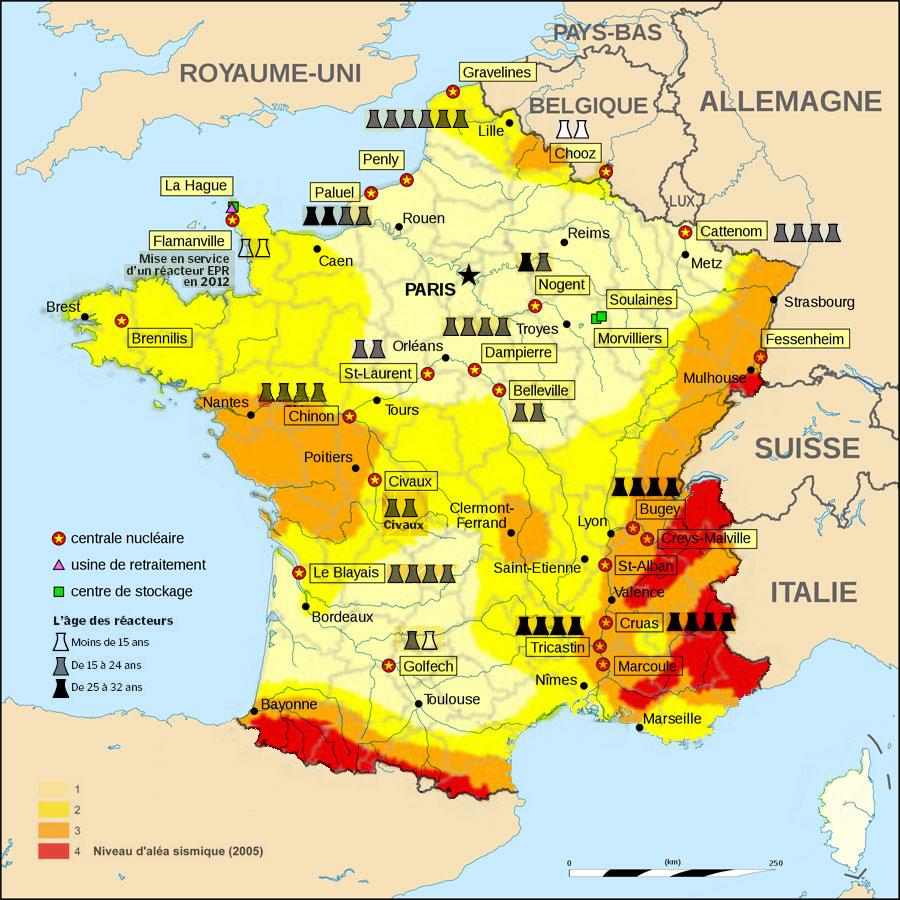 carte des risques nucl??aires en France - NUMERIC LANDSCAPE