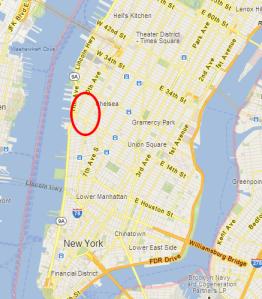 localisation du quartier de Chelsea à NY
