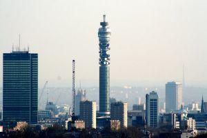 La BT Tower d'où le panorama a été prit au sommet.