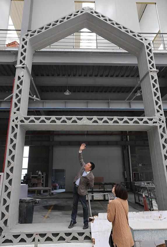 la Chine a lancé un prototype de fabrication d'habitations via une impression 3D d'un alliage spécifique de béton...