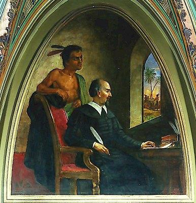 Bartolomeo de las Casas et l'indien, Constantino Brumidi, 1876, Sanate Wing, US Capitol.