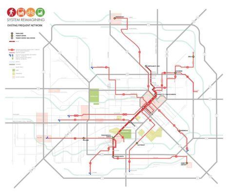 le réseau de trasnport existant de Houston