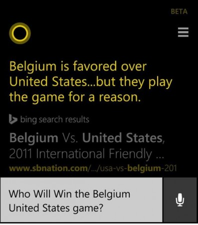 Cortana world cup