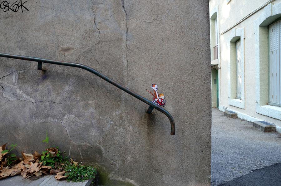 Calvin & Hobbes Oak Oak, Street Art, Watterson
