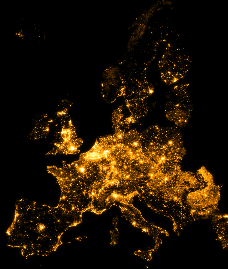 Europe... by Light