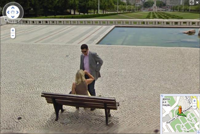 Goggle Street View : de la nécesssité de l'oubi : ici une petite gâterie sur l'une des plus célèbre (et monumentale) esplanade de Lisbonne