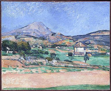 L'un des innombrable tableau signé Cézanne et représentant la montagne Sainte Victoire à côté d'Aix-en-Provence