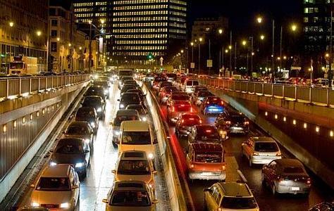 Bruxelles, petite ceinture en heure de pointe