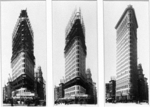 """Flatiron Building Construction, New York Times - Library of Congress, 1901-1902 crop"" by Credited to the Library of Congress - From The Times online store, located here.. Licensed under Public Domain via Wikimedia Commons"
