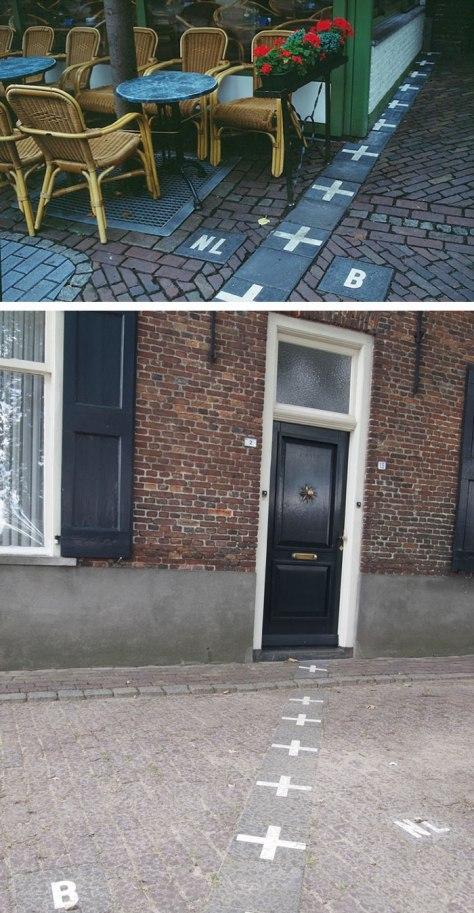 frontière entre la Belgique et les Pays-bas, enclave belge.