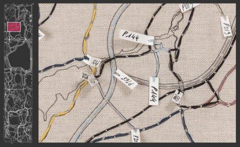 Capture d'écran de la  carte interactive  sur le site Web Public Art Fund