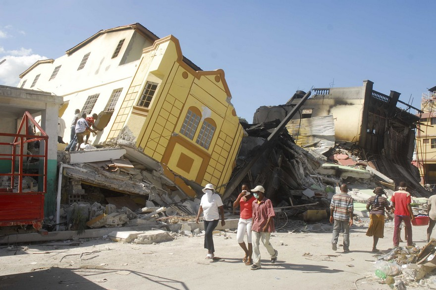 HAITI: Aftermath of earthquake in Haiti
