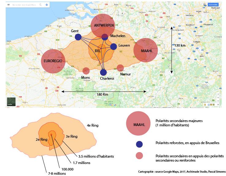 carte rings de bruxelles en belgique